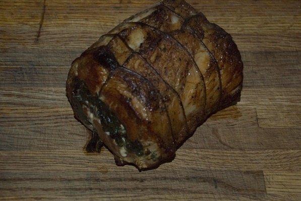 Receta de cerdo relleno de carne picada y bacon