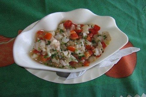 Receta de ceviche de pescado con camarones