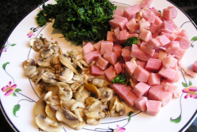 Receta de champiñones con jamón