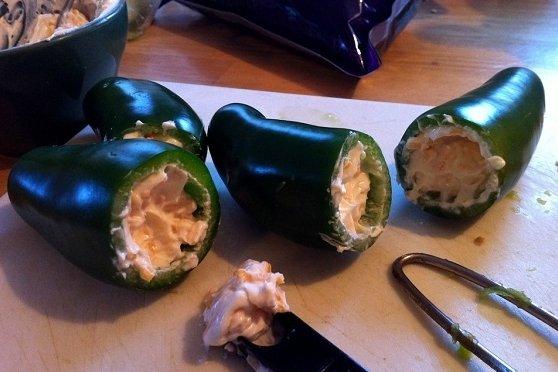 Receta de chiles jalapeños rellenos