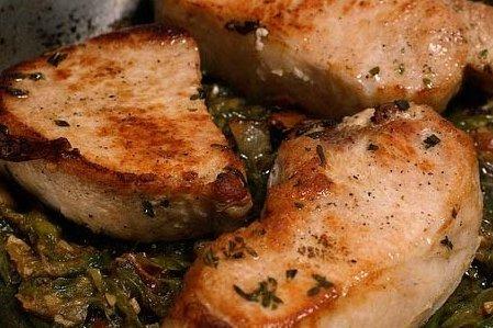 Receta de chuletas de cerdo con salsa de mostaza