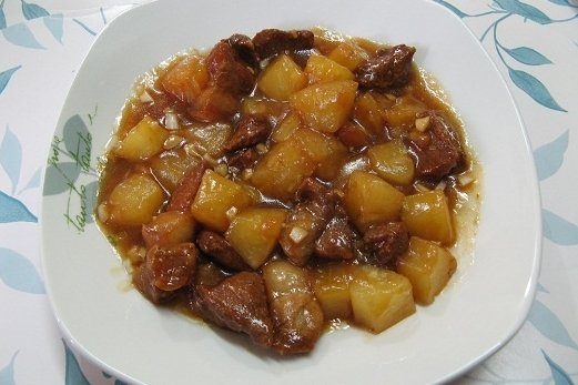 Receta de chuletas de cerdo en salsa de piña