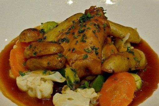 Receta de conejo con verduras