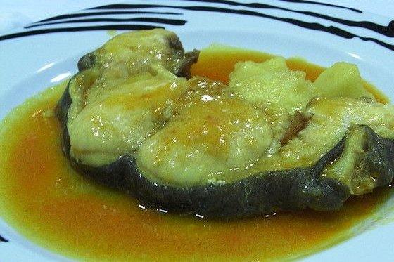 Receta de congrio en salsa de almendras