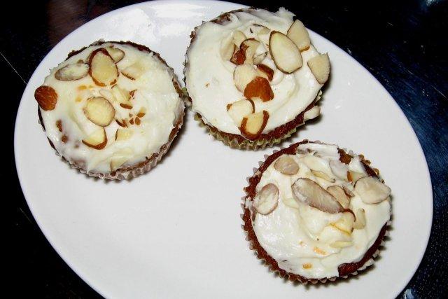 Receta de cupcakes de zanahoria