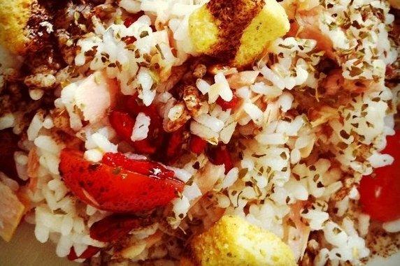 Receta de ensalada con arroz