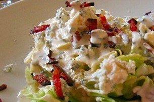 Receta de ensalada con salsa de queso