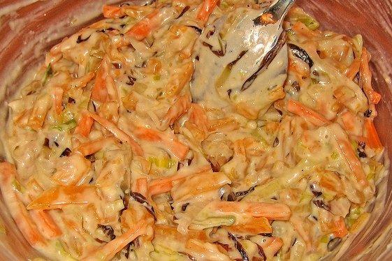 Receta de ensalada de col y zanahoria