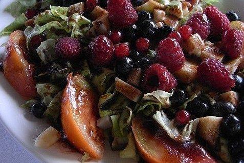 Receta de ensalada de frutos rojos