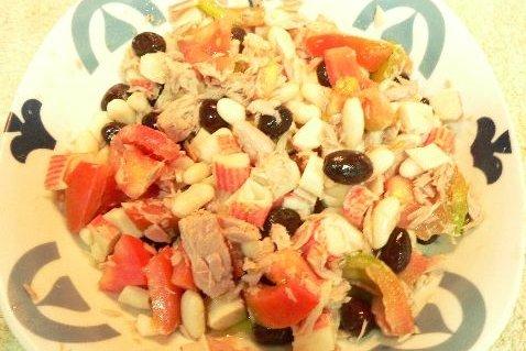 Receta de ensalada de judías blancas