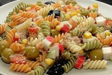 Receta de ensalada de pasta con tomate