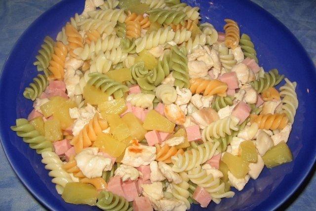 Receta de ensalada de pasta y pollo