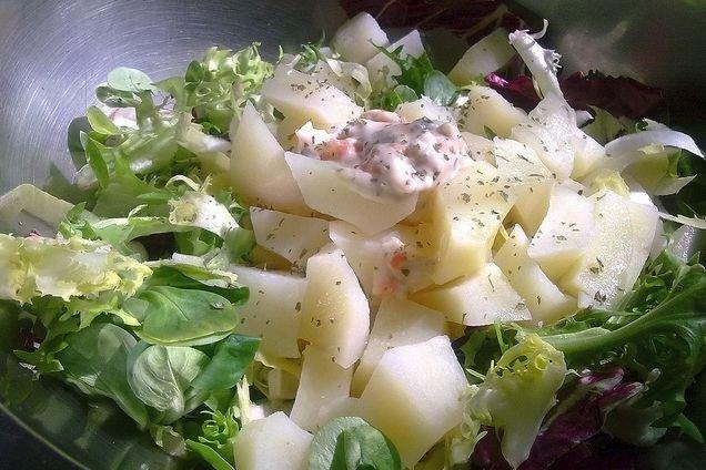 Receta de ensalada de patata con vinagreta
