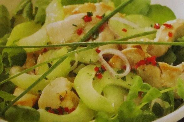 Receta de ensalada de pepino y pollo