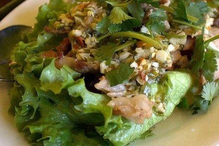 Receta de ensalada de pollo con lechuga