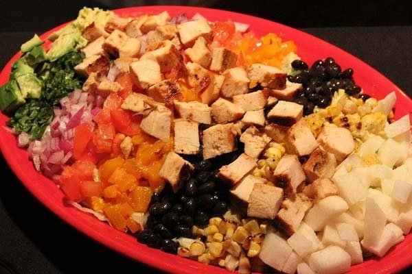 Receta de ensalada de pollo mexicana
