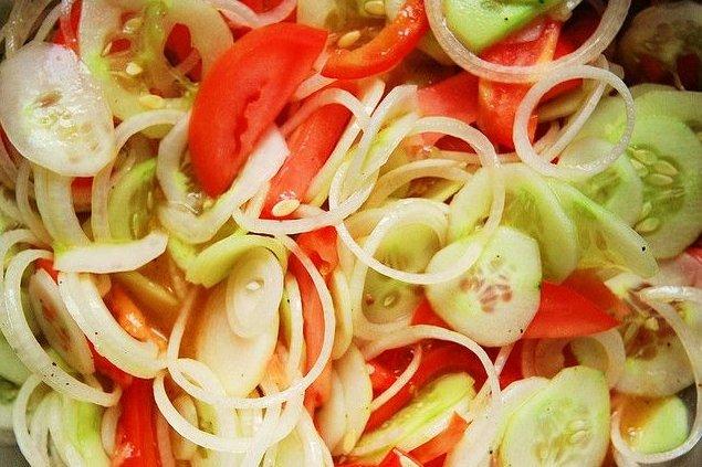 Receta de ensalada de tomate y pepino