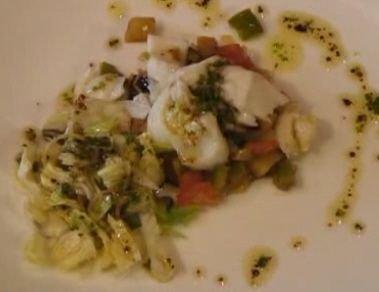 Receta de ensalada de verduras y bacalao