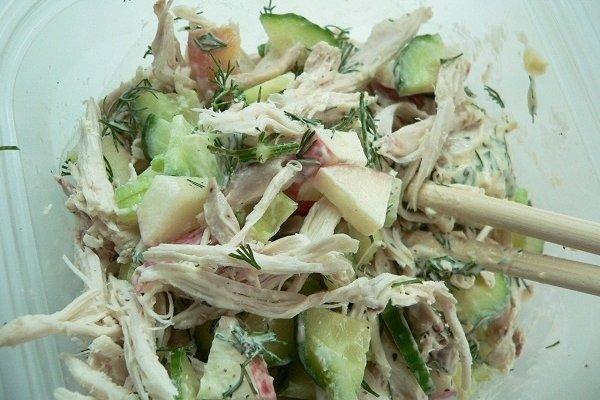 Receta de ensalada de verduras y pollo