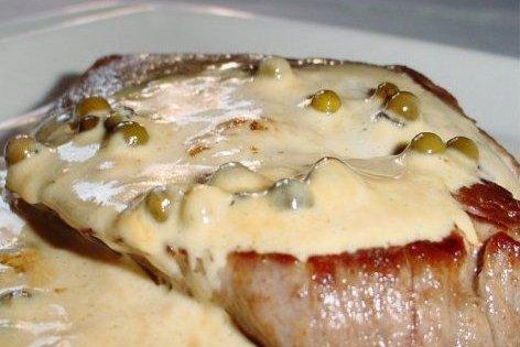 Entrecot a la pimienta verde receta - Como cocinar un entrecot ...