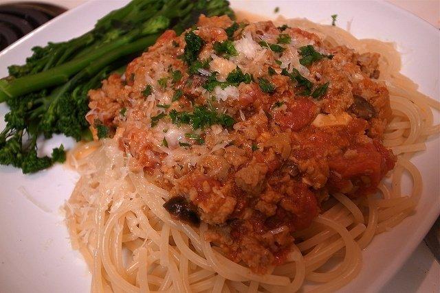 Receta de espagueti a la boloñesa