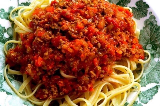 Receta de espagueti boloñesa