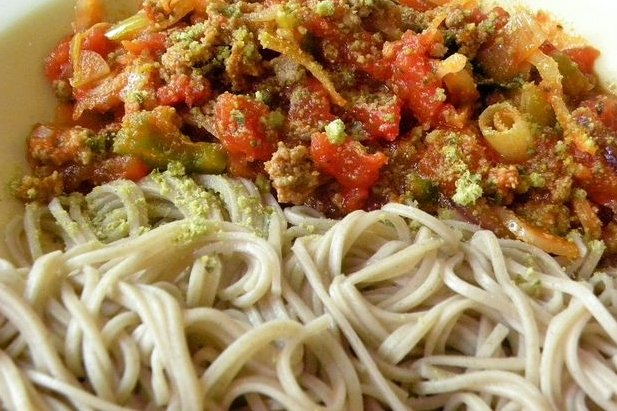 Receta de espaguetis con carne picada