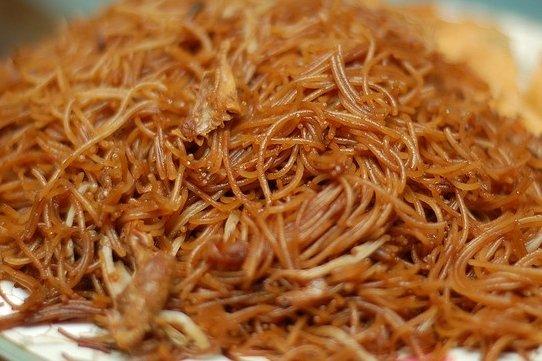 Fideos Arroz Fritos Fideos de Arroz Con Pollo