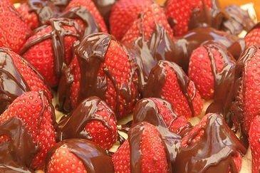 Receta de fresas con chocolate