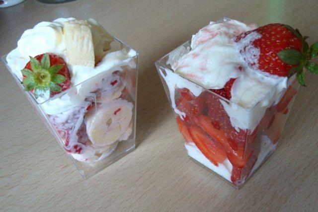 Receta de fresas con nata
