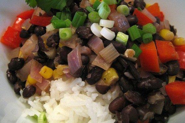 Receta de frijoles con arroz