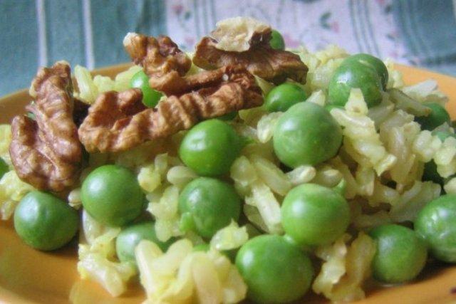 Receta de guisantes con arroz