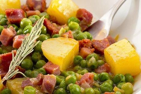 Cocinar Guisantes Congelados | Guisantes Con Jamon Y Patata Receta
