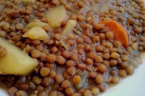 Receta de guiso de lentejas vegetariano