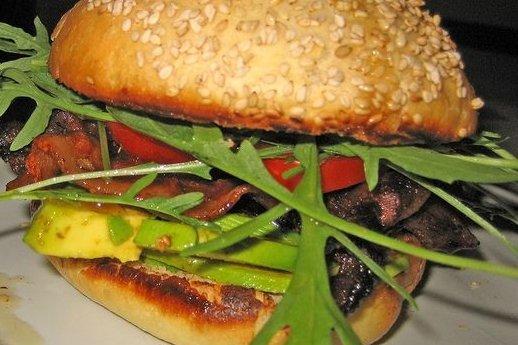 Receta de hamburguesa de berenjena