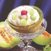 Receta de helado de melón