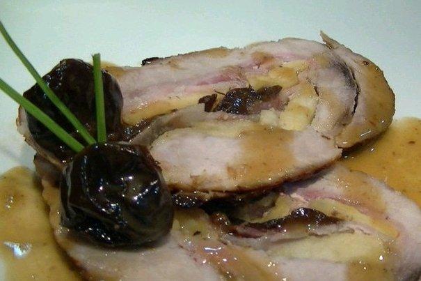 Receta de jamón relleno al horno