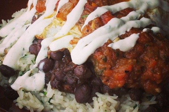 Jud as pintas con arroz cocido receta - Ensalada de judias pintas ...