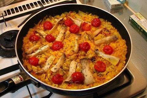 Receta de la paella española