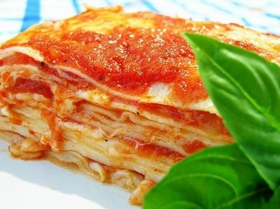 Receta de lasaña italiana
