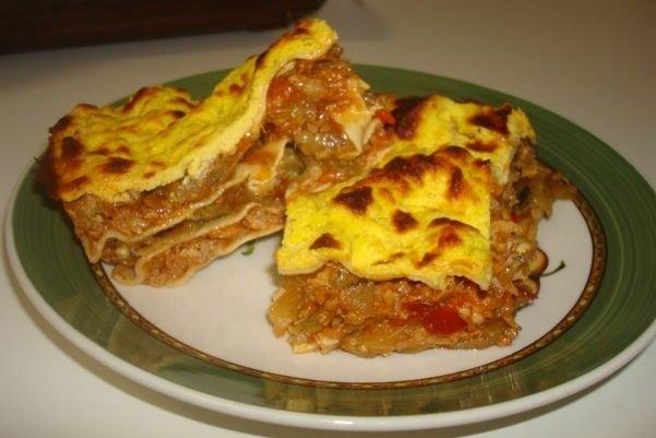 Receta de lasaña de carne y verduras