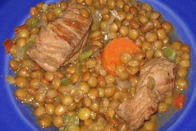 Receta de lentejas con carne