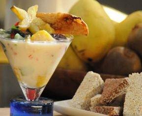Receta de macedonia de frutas con yogur