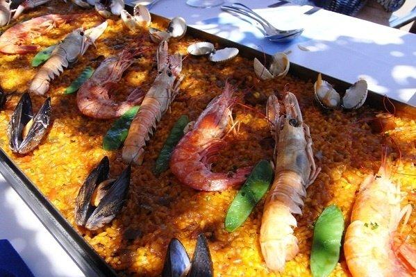 Receta de mariscos con arroz