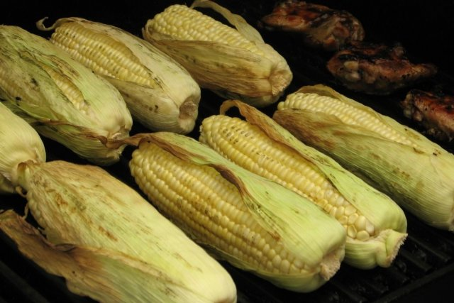 Receta de mazorcas de maíz asadas