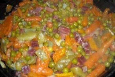 Menestra de verduras con bacon receta - Como preparar menestra de verduras ...