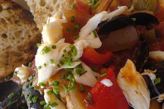 Receta de merluza en salsa
