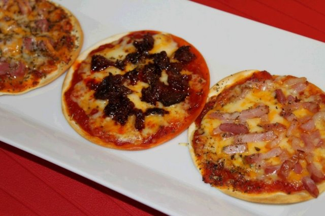 Receta de mini pizzas express