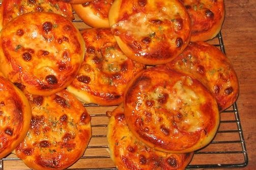 Receta de mini pizzas