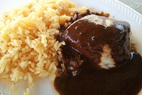 Receta de mole con arroz